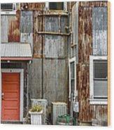 Orange Door Wood Print