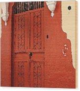Orange Doors Wood Print