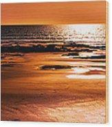 Orange Evening Wood Print