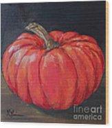 Orange Fairytale Pumpkin Wood Print