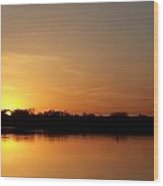 Orange Fire Sunset Wood Print