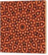 Orange Floral Abstract Wood Print