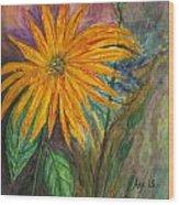Orange Flower Wood Print by Anais DelaVega