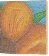 Orange Flower Wood Print