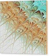 Orange Folium Wood Print