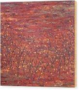 Orange Forest Wood Print