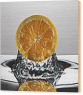Orange Freshsplash Wood Print