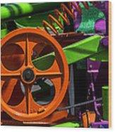 Orange Gear Wood Print by Garry Gay