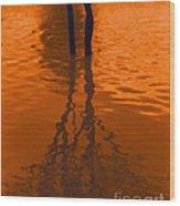 Orange Glow Wood Print