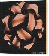 Orange Honeycomb Wood Print
