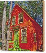 Orange In Asbury Grove In South Hamilton-massachusetts  Wood Print