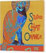 Orange Is The New Black Wood Print