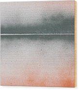 Orange Lake Wood Print