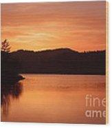Orange Love Wood Print by Sheldon Blackwell