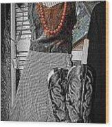 Vintage Orange Necklace Wood Print