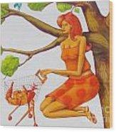 Orange Olga Wood Print
