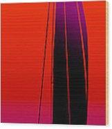 Orange On Purple.....long Wood Print