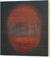 Orange Orb Wood Print by Kongtrul Jigme Namgyel