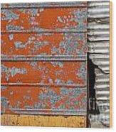 Orange Paint Wood Print
