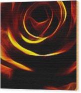 Orange Passion Rose Wood Print