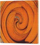 Orange Peal Wood Print
