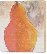 Orange Pear Wood Print
