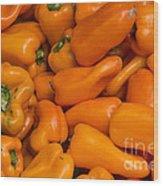 Orange Peppers Wood Print