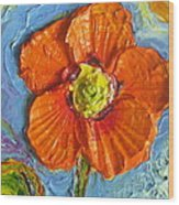 Orange Poppy II Wood Print by Paris Wyatt Llanso