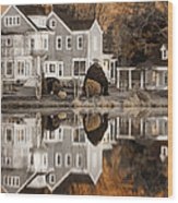 Orange Reflection Wood Print by Vicki Jauron