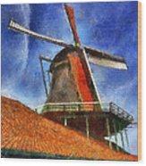 Orange Sails Wood Print