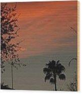 Orange Skies Wood Print