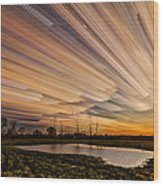 Orange Sky Wood Print by Matt Molloy