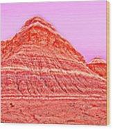 Orange Slice Mountain Wood Print