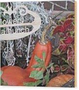 Orange Squash Wood Print