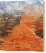 Orange Stones Wood Print