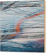 Orange Streak Wood Print