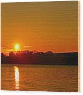Orange Sunrise Over Dc Wood Print