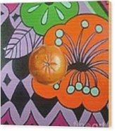 orange Sunshine Wood Print by Shelley Laffal