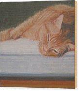 Orange Tabby Cat Wood Print