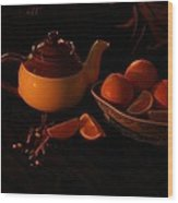 Orange Tea With Spices Wood Print