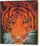 Orange Tiger Wood Print