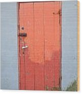 Orange Two Tone Iceland Door Wood Print