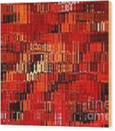 Orange Under Glass Abstract Wood Print