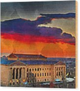 Orange Upon The Art Museum Wood Print