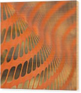 Orange Wave Wood Print