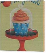 Orangeade Cupcake Wood Print