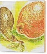 Oranges And Pears Wood Print