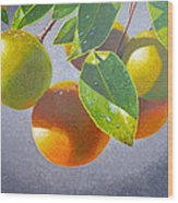 Oranges Wood Print by Carey Chen