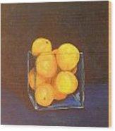 Oranges In A Square Vase Wood Print