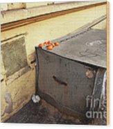 Oranges In Prague Wood Print by John Rizzuto